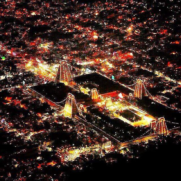 Meenakshi Amman Temple at Night