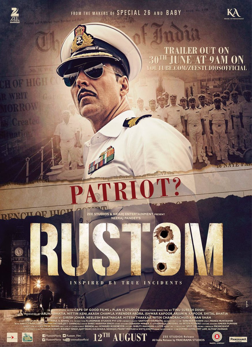 Official Poster and Trailer of Rustom