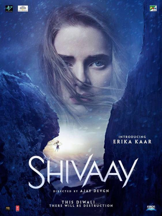 Shivaay Movie Poster Featuring Erika Kaar
