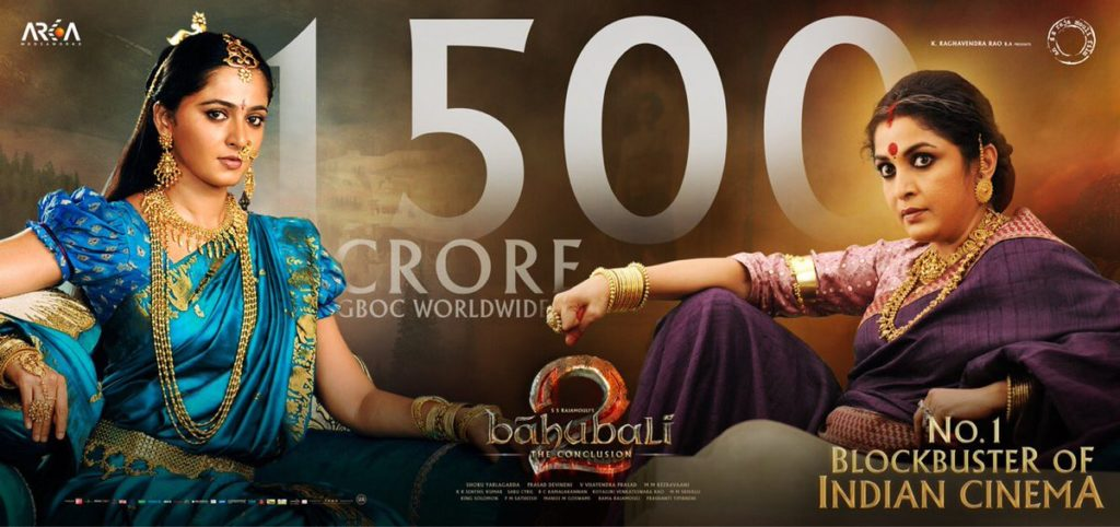 Bahubali 2 – The Conclusion Grosses 1500 Crores in Three Weeks