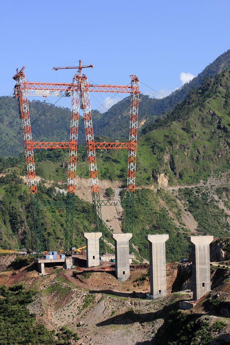 World's Highest Rail Bridge Over Chenab River in Jammu & Kashmir