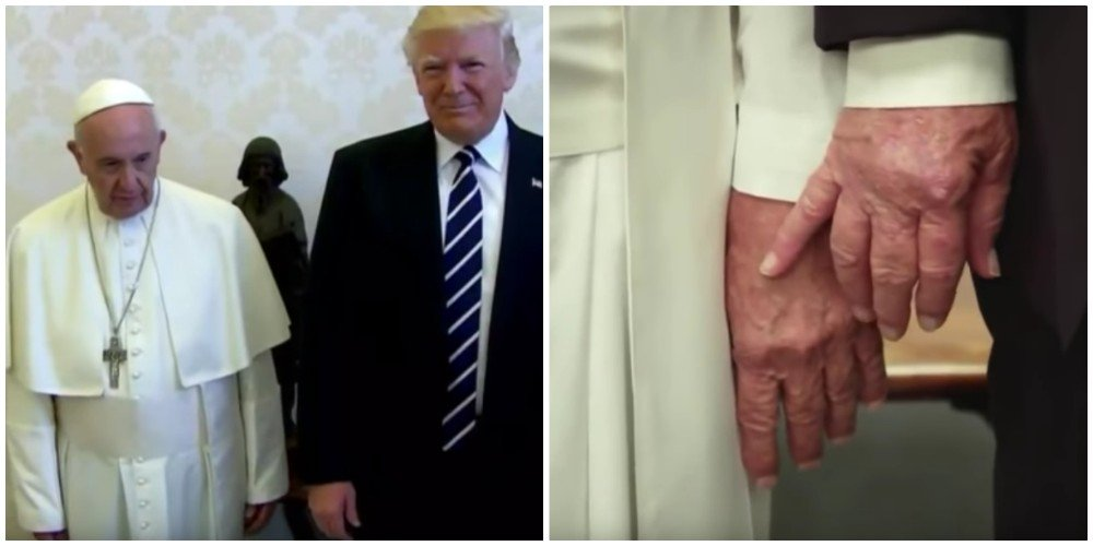 Fake Video - Pope Francis Swats Donald Trump's Hand