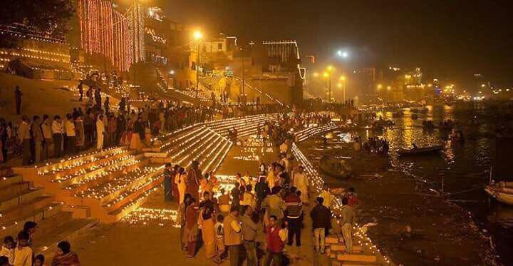 PM Narendra Modi Tweets Beautiful Dev Deepawali Celebration Photos from Kashi