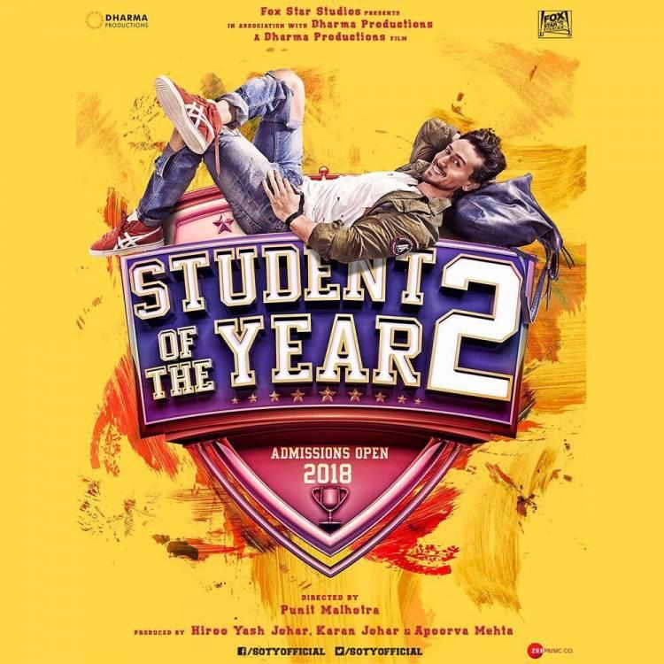 Student of the Year 2: First Poster Starring Tiger Shroff