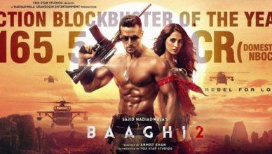 Baaghi 2 crosses 165 Crores at the box office