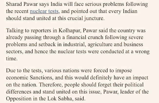 Reactions of Indian Political Leaders and Activists After Pokhran Nuclear Test