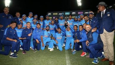 This is How Indian Team Celebrated After Registering Series Win in New Zealand